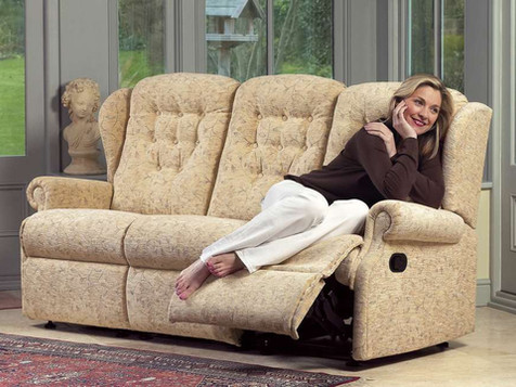 Sherborne Lynton Fabric 3 Seater Recliner Sofa | Gordon Busbridge Furniture | Hastings, Eastbourne, Seafrod, Bexhill, St Leonards on Sea