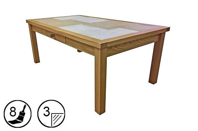 Bearstone Small Coffee Table with Drawer
