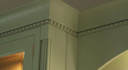 Marpatt Bespoke In-frame - Stamford in Green (castellated moulding detail)