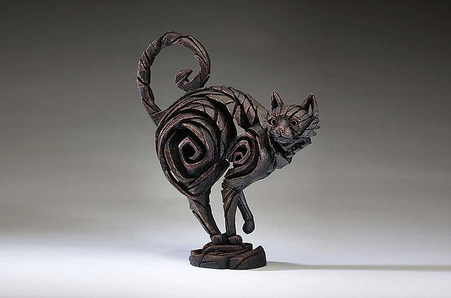Edge Sculpture Cat Figure - Black