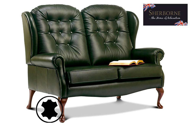 Sherborne Lynton Leather Standard Fireside 2 Seater High Seat Sofa
