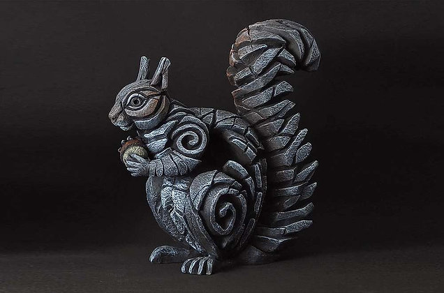Edge Sculpture Squirrel Figure - Grey