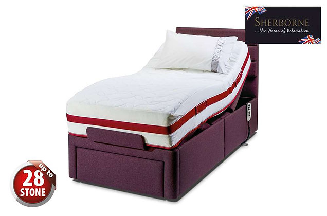 Sherborne Dorchester 90cm Single Head & Foot Adjustable Divan Bed