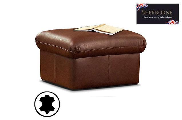 Sherborne Leather Footstool