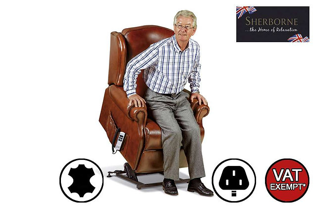 Sherborne Claremont Leather Standard Lift & Rise Care Recliner Chair