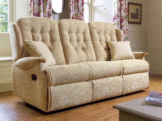 Sherborne Lynton Knuckle Fabric 3 Seater Recliner Sofa   Gordon Busbridge Furniture   Hastings, Eastbourne, Seafrod, Bexhill, St Leonards on Sea
