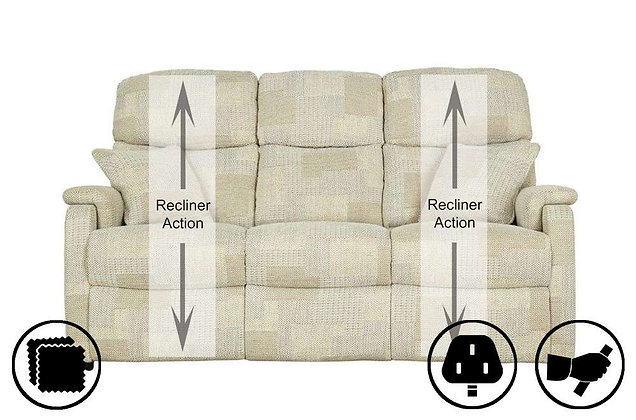 Athens 3 Seater Recliner Sofa