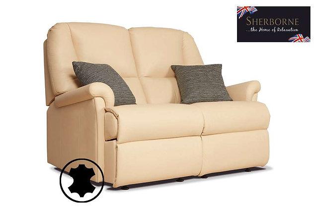 Sherborne Milburn Leather 2 Seater Sofa