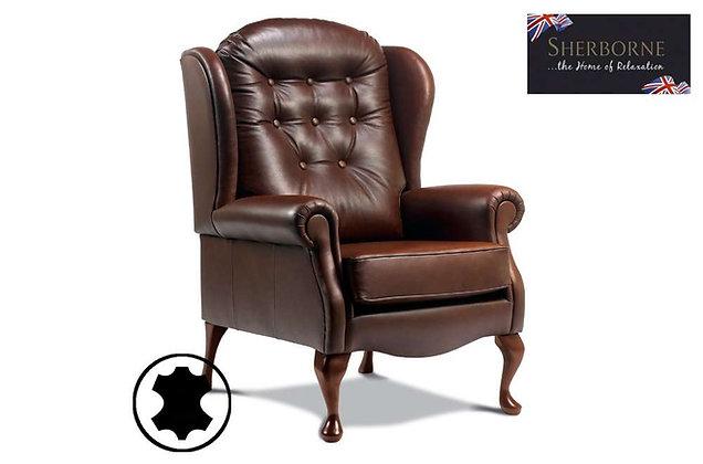 Sherborne Lynton Leather Standard Fireside High Seat Chair
