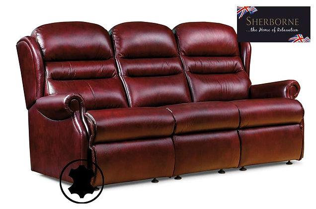 Sherborne Ashford Leather 3 Seater Sofa