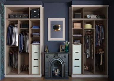 Hepplewhite Kingsbury wardrobe interior image in Rural Oak