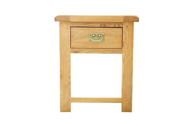 Rustic Charm 1 Drawer Bedside Table