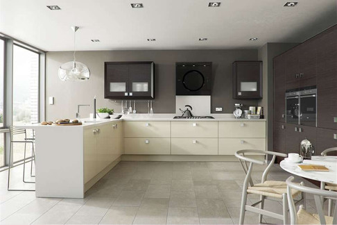 Marpatt Contemporary Collection - Horizon in Nero Oak and Alabaster Gloss