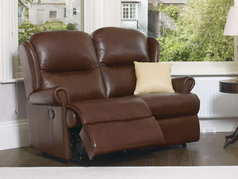 Sherborne Malvern Leather Manual 2 Seater Recliner Sofa | Gordon Busbridge Furniture & Beds Store | Hastings, Eastbourne, St Leonards on Sea, Bexhill & Seaford