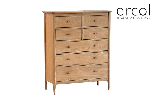 Ercol Teramo 7 Drawer Tall Wide Chest