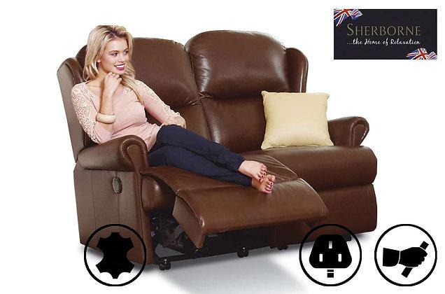 Sherborne Malvern Leather Standard 2 Seater Recliner Sofa