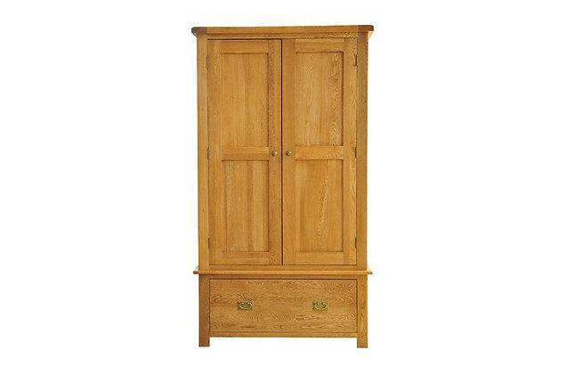 Rustic Charm 2 Door, 1 Drawer Wardrobe