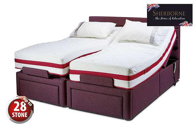 Sherborne Dorchester 180cm Super King Size Head & Foot Adjustable Divan Bed