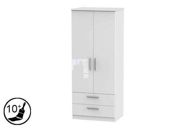 Loire 2 Door, 2 Drawer Wardrobe