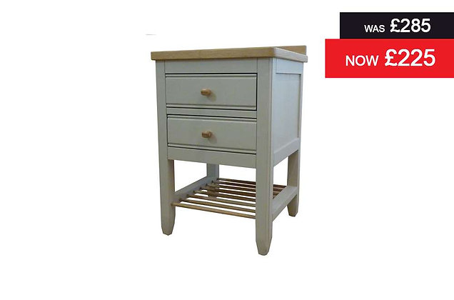 Ercol Pinto 2 Drawer Bedside Chest