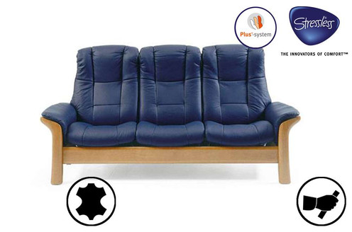 Astounding Stressless Windsor 3 Seater High Back Recliner Sofa Pabps2019 Chair Design Images Pabps2019Com