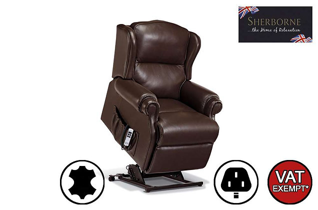 Sherborne Claremont Leather Small Lift & Rise Care Recliner Chair