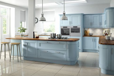 Marpatt Classic Collection - Accent in block painted Bluebell