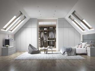 Hepplewhite Sienna loft roomset in Matt Light Grey