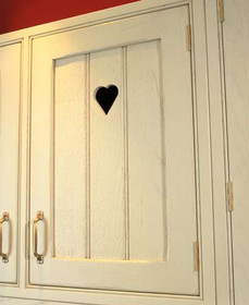 Marpatt Bespoke In-frame - Tongue & Groove in Ivory (heart cut-out detail)