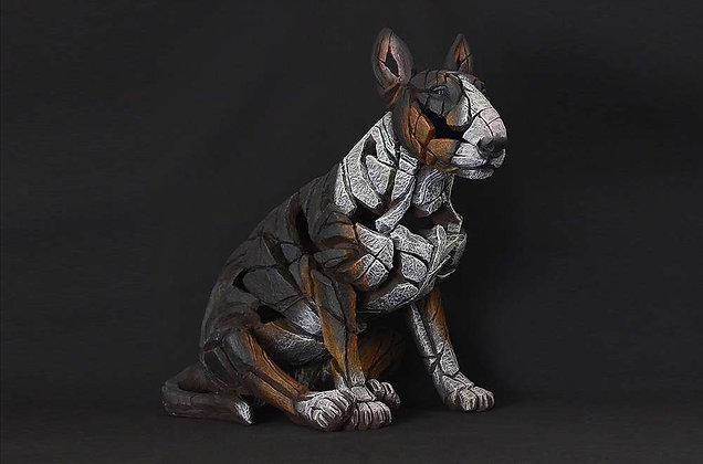 Edge Sculpture Bull Terrier Figure - Tri Colour
