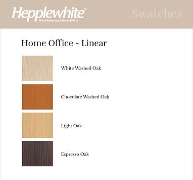 Hepplewhite Linear Home Office Finishes.