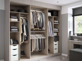 Hepplewhite Sienna wardrobe interior in Rural Oak