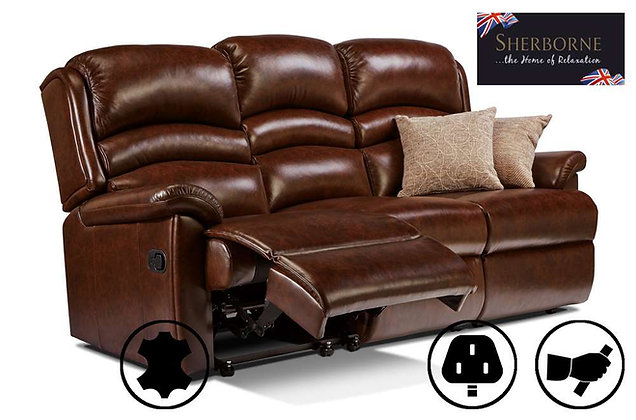 Sherborne Olivia Leather 3 Seater Recliner Sofa