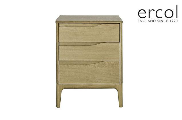 Ercol Rimini 3 Drawer Bedside Table