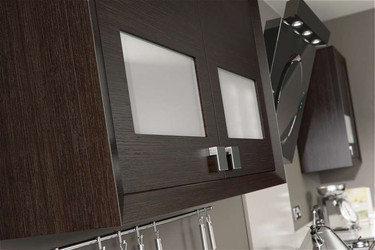 Marpatt Contemporary Collection - Horizon in Nero Oak and Alabaster Gloss (cameo)