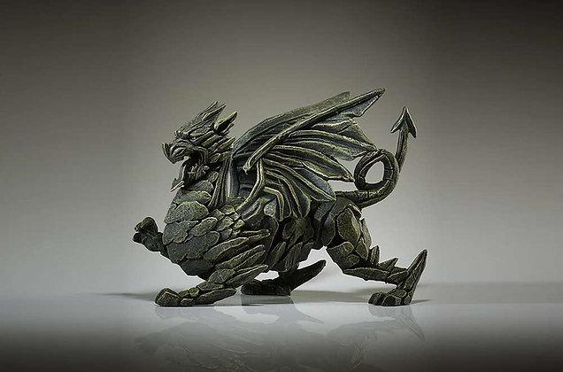 Edge Sculpture Dragon Figure - Green