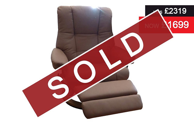 Stressless Mayfair Medium Leg Comfort Electric Recliner Chair -Paloma Dusky Rose