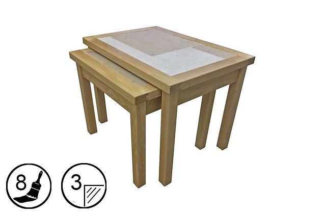 Bearstone Nest of 2 Tables