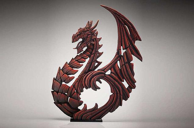 Edge Sculpture Heraldic Dragon Figure - Red