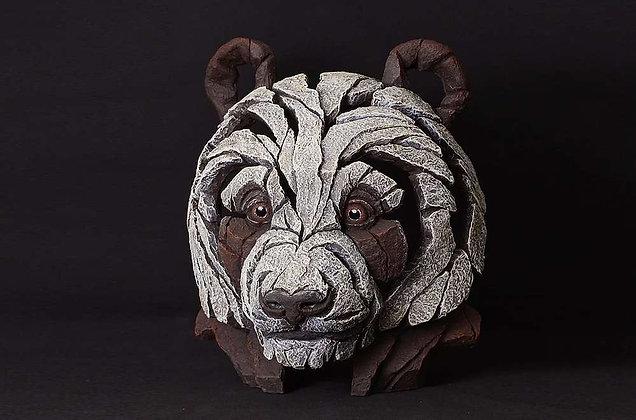 Edge Sculpture Panda Bust - Brown