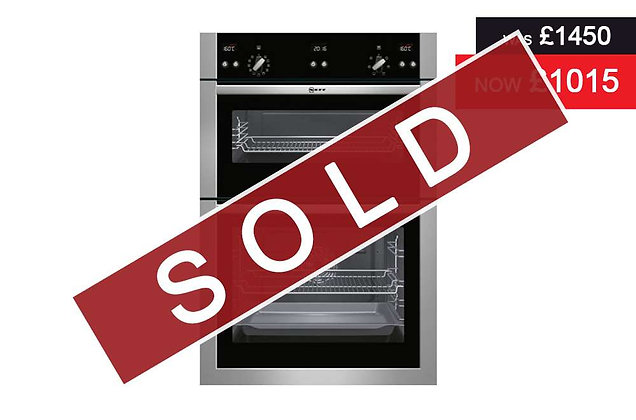 Neff - Double oven Stainless steel (U15E52N5GB)