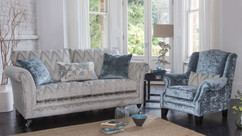 Versailles Fabric Grand Sofa & Wing Chair | Gordon Busbridge Furniture & Beds Store | Hastings, Eastbourne, St Leonards on Sea, Bexhill & Seaford