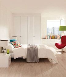 Hepplewhite Lustro wardrobes in Frost White High Sheen