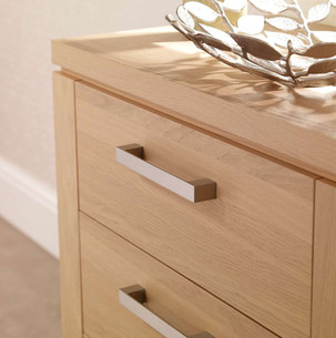 Hepplewhite Albany contemporary brushed steel handles
