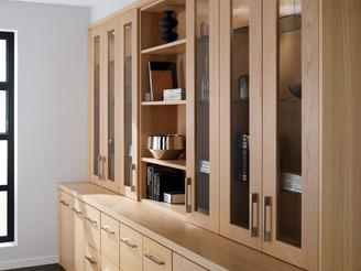 Hepplewhite Linear Home Office Wall Run in Light Oak Veneer