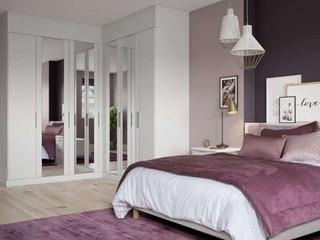 Hepplewhite Sienna wardrobe with mirror doors in White Ash