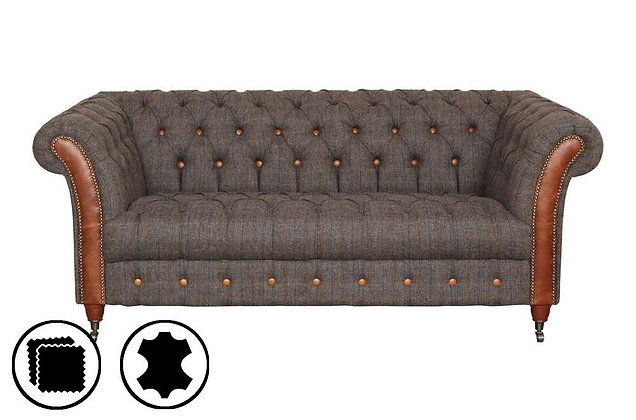 Heritage Cheshire Club 3 Seater Sofa