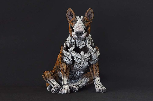 Edge Sculpture Bull Terrier Figure - Red