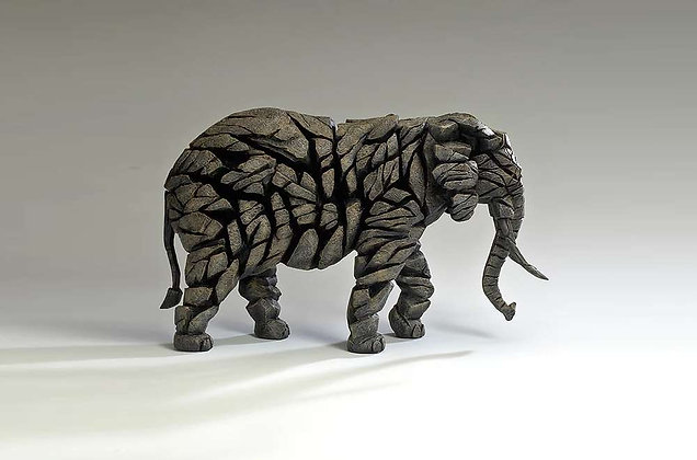 Edge Sculpture Elephant Figure - Mocha