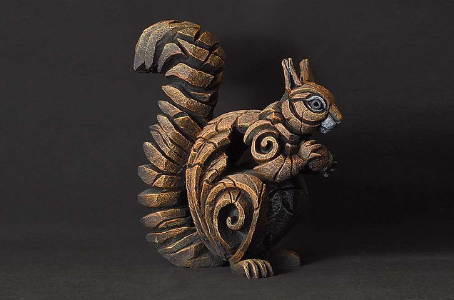 Edge Sculpture Squirrel Figure - Red